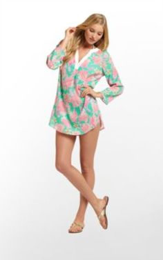 Lily Pulitzer Ripley Tunic  Colorful Beach Coverup