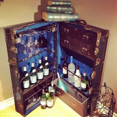 DIY - Steamer Trunk Bar | In The Mix
