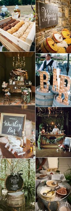 wedding reception bar for 2018 trends #weddingreception #weddingideas #weddingfood #weddingdrinks #weddingdecor
