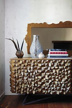 Angle-Edged Console #anthropologie