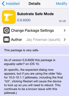 Saurik Updates Substrate Safe Mode to Fix Issues with the iOS 10 Yalu Jailbreak