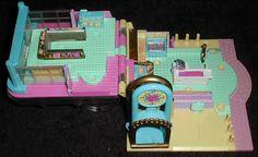 1995 - Polly Pocket Light-Up Supermarket - Pollyville - Bluebird Toys - Mattel #14531