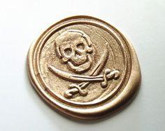 1pcs custom skull and katana wax seal stamp packing wax seal gift wrapping seals