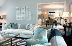 Light Blue Walls Living Design Ideas, Pictures, Remodel and Decor Interior Design Living Room, Living Room Designs, Living Spaces, Living Rooms, Small Living, Light Blue Walls, Sofa Home, Living Room Grey, Living Room Inspiration