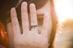 agape tattoo ring finger. Loveeee.