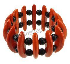 Mode Türkis Armbänder, Synthetische Türkis, mit elastischer Faden, 6.5x39x11mm, 8mm, Länge:ca. 8 Inch