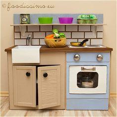 Domáca výroba detskej kartónovej kuchyne