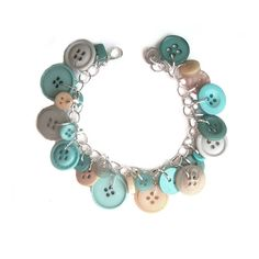 Jewelry Bracelet Charm Sand 'n Surf Hued  by LovesParisStudio, $30.00