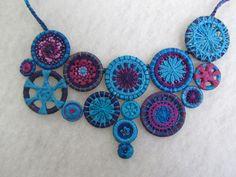 Necklace of thread buttons by Barbara Schey, Sydney, Australia