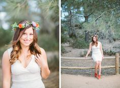 Flower crown. Woodsy. Bohemian. Portrait Photography