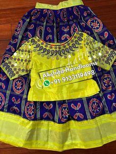 pixels Source by sirishanadendla Blouses Kids Dress Wear, Kids Gown, Dresses Kids Girl, Kids Outfits, Baby Frocks Designs, Kids Frocks Design, Kids Lehenga Choli, Anarkali, Kids Lehanga