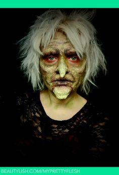 Wicked Witch Makeup - Halloween 2011 To watch the tutorial click the link below: http://www.youtube.com/watch?v=t2oy8_9y4RE   Rebeckah W.'s (MyPrettyFleshMUA) Photo   Beautylish