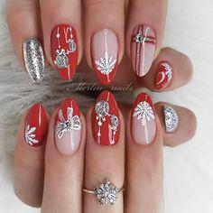 winter nails, winter nail colors, dark winter nails, winter nails winter nail designs winter nails colors, w. Sexy Nail Art, Sexy Nails, Trendy Nails, Cute Nails, Red Sparkly Nails, Blue Glitter Nails, Pink Nails, Red Nail, Yellow Nails