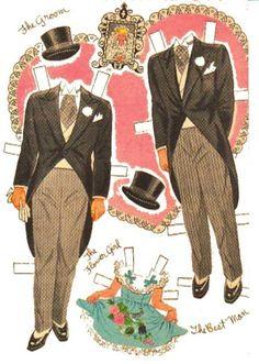 """Bridal Party"" paper dolls by Hilda Miloche"