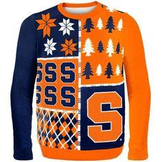 Syracuse Orange Orange Busy Block Ugly Sweater