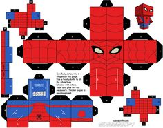 Superhero Printables FREE paper craft - many different superheroes to chose from