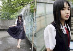 Girl In Water, Japanese School, Wet Hair, Sexy, Cute, Devil, Tumblr, Style, Girls