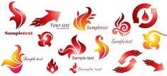 Fire logo Degisn Free PSD Template