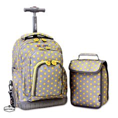 Kids Rolling Backpack For School Girls Backpacks Children And Lunch Boxes New #Jworld #Backpack