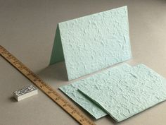 BLANK 5x7 mint green mulberry paper for card by SQUISHnCHIPS