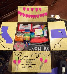 Birthday care package for a best friend. @geegfromfeej                                                                                                                                                                                 More                                                                                                                                                                                 More