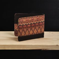Pinnata Batik Red #dompet #wallet #kayu