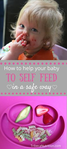 How to help your baby to self feed
