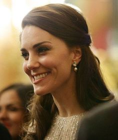 Kate at the UK-India reception tonight at Buckingham Palace.