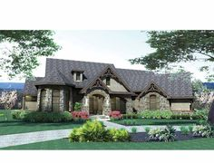 cottage style house plans 2595 square foot home 1 story 4 bedroom and 2 bath 2 garage stalls by monster house plans plan 61 103