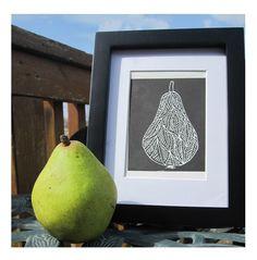 Engraved Pear.