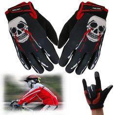 Skull Non-slip Cycling Full Finger Gloves Breathable GEL Padded Winter Bicycle #Unbranded #FullFinger