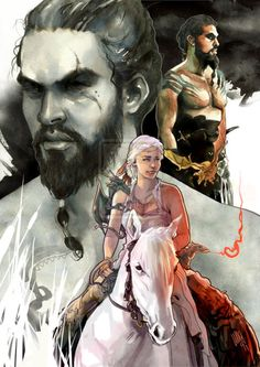 Drogo and Dany-from Game of Thrones