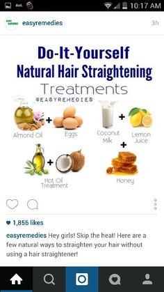 Natural straightners