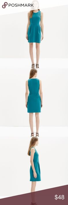 Cute teal Madewell dress Adorable teal colored dress by Madewell. Zipper closure on back. Hugs the curves, can wear from day to night. Dress it up with a chunky statement necklace and bright heels for a fun and flirty look! #4061707 Madewell Dresses