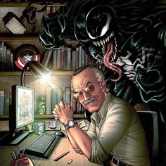 Rest in peace Stan Lee, my childhood hero. Marvel Comics, Marvel Venom, Marvel Fan, Marvel Heroes, Marvel Characters, Marvel Avengers, Deadpool Wolverine, Venom Spiderman, Comic Art