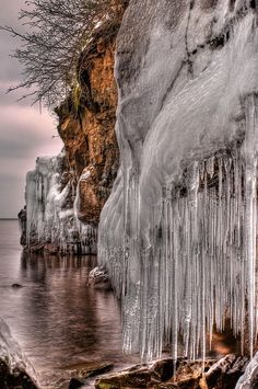 Frozen Lake Superior, USA
