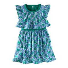 Tea Collection Peacock Tile Swing Dress