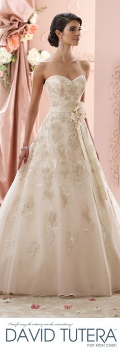 Exclusive World Preview of David Tutera for Mon Cheri Fall 2015 Bridal Collection