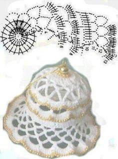 Zawieszki na choinkę . Crochet Christmas Decorations, Crochet Ornaments, Christmas Crochet Patterns, Holiday Crochet, Crochet Snowflakes, Diy Christmas Ornaments, Crochet Ball, Thread Crochet, Crochet Doilies