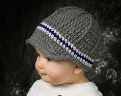 Fall boys newsboy hat Fall crochet baby hat fall by ktandthesquid, $22.00   so cute