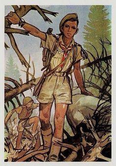 Le béret vert et l'aventure pour les raiders scouts de Michel Menu