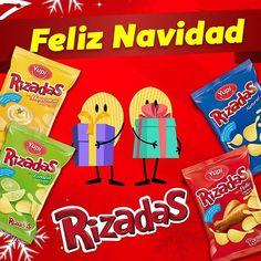 Deja que hoy te llenen de sabor todas tus #Rizadas Mayonesa, Limón, Pollo y Natural, ¡Feliz Navidad!
