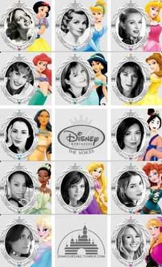 Side-by-side of the real-life voice actresses and the Disney princesses they brought to life. Didn't realise that the actor who did Mulan is also Agent May from SHEILD!
