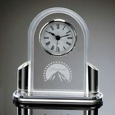 "Clear Acrylic Award Clock (6 1/2""x6""x2"")"