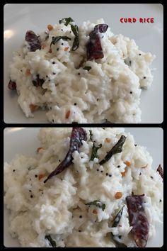 "Curd rice also called yogurt rice is an easy to make dish of India. The word ""curd"" in Indian English refers to unsweetened probiotic yogurt. Curd rice is very popular in the Indian states of Tamil Nadu, Karnataka, Telangana and Andhra Pradesh."