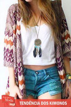 Os Kimonos são tendência para a primavera verão. Confira as dicas de como aderir a essa moda em http://enycalcados.blogspot.com.br/
