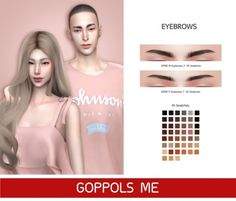 Eyebrows by GOPPOLS Me for The Sims 4