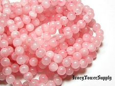 1 Strand 8mm Rose Quartz Beads Natural Stone by IvoryTowerSupply