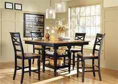 Another Great Find On Black Oak Five Piece Counter Height Dining Set By  Coaster