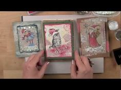 NEW #Stampendous Encrusted Jewel Technique Cards for Christmas 2012